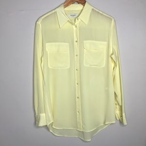 Equipment Signature Silk Shirt in Pastel Yellow